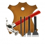 Инструменты и аксессуары для работу по коже