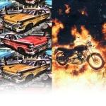 Ткани с машинами и мотоциклами
