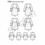 Child`s and Girls` Dress with Sleeve Variations, Simplicity Pattern #8708