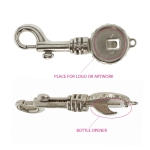 Swivel hook; swivel latch; swivel ring; snap hook, key clasp, 85 x 27 mm, hole ø4mm, SHX1A