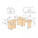 Käsitöö ja õmblusmasina töölaud (kapp) Comfort 8