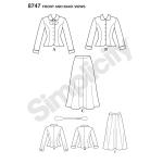 Naiste vintage-kostüüm, Simplicity Pattern # 8747