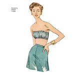 Naiste vintage 1950`ndate Bra topid, Simplicity Pattern #1426