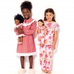 Ompelukaava: Girls` and 46cm (18`) Doll Ruffled, Notch-Neck Top, Dress and Pants, Kwik Sew K0227