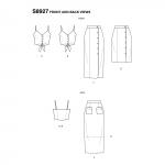 Naiste eestsõlmitavad topid ja seelikud by Mimi G Style, Simplicity Pattern #S8927