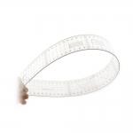 Clear View Thin Plastic metric Ruler 5 cm x 60 cm DY2660