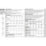 Naiste trikoo-kardigan, suurused: A (XS-S-M-L-XL), Simplicity Pattern # 8740