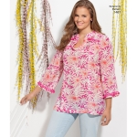Women`s and Plus Tunic with Neckline and Sleeve Variations, Simplicity Pattern #1461