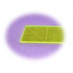 Тонкая пластикожая линейка, дюмы, 2` x 10` дюм 5 см × 25,7 см) Le Summit QR-0210F