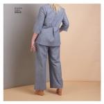Naiste kleit, topp püksid ja jakk, Simplicity Pattern #S8846