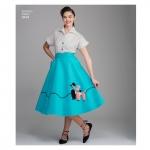Naiste vintage seelik ja Cummerbund, Simplicity Pattern # 8446