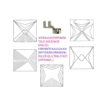 Šabloon-joonlaud vabakäe-teppimiseks, 23 cm × 13,5 cm Yütien Design TR4