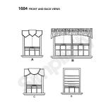 Üla-poolkardinad aknale laiusega 92-102cm, Simplicity Pattern #1383