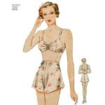 Preilide vintage rinnahoidja ja aluspüksid, Simplicity Pattern # 8510