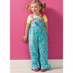 Girls` Top, Pants and Overalls; Dolls` Top and Pants, Kwik Sew K0135