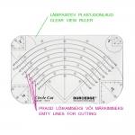 Šabloon-joonlaud ringide lõikamiseks, Clear View Circle Cut Ruler, 15cm-30cm Duroedge KR-2345