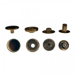 Press Buttons s-spring, brass made, ø15 mm, RCPB-15BS