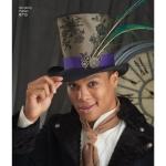 Meeste mütsid kolmes suuruses: A (S-M-L), Simplicity Pattern # 8713