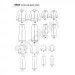Poiste ja meeste salongipükste ja särgi komplekt, suurused: A (S - L / XS - XL), Simplicity Pattern # 8802