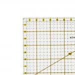 Транспарент Plastic Ruler 16cm x 16cm, thickness 3mm, Kearing KPR1616