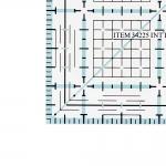 Пластикожая линейка, дюмы, 2,5` x 2,5` дюм (6,5 см × 6,5 см) LeSummit 34225