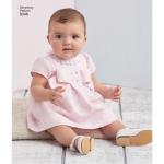 Väikelaste kleit ja püksikud, suurused: A (XXS-XS-S-M-L), Simplicity Pattern #8346