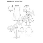 Naiste riietus Mimi G Style, Simplicity Pattern #8558