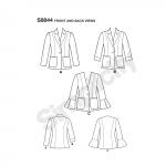 Naiste ja väikesekasvuliste Petite-naiste voodrita bleiser,Simplicity Pattern #S 8844