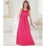 Tüdrukute ja pluss-mõõdus tüdrukute eriliste sündmuste kleit, Simplicity Pattern #1510