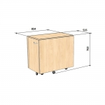 Käsitöö ja õmblusmasina töölaud (kapp) Comfort 9