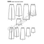 Naiste erinevate pikkustega seelikud, püksid, Simplicity Pattern #8299