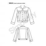 Mimi G Jean jakk, suurused: A (XS-S-M-L-XL), Simplicity Pattern #S8845