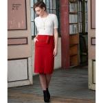 Naiste kitsad ja laienevad seelikud, kärbitud püksid, ja sõlmitav vöö, Simplicity Pattern #8175