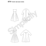 Women`s Vintage Dress and Lined Coat, Simplicity Pattern #8731