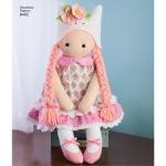 60 cm täidistopitavad nukud riietega, Simplicity Pattern # 8402