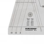Šabloon-joonlaud nn Dresteni õis 26cm × 29cm, Duroedge KT-3010