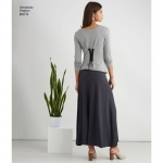 Misses` Knit Skirt with Options for Design Hacking, Size: A (XXS-XS-S-M-L-XL-XXL) Simplicity Pattern #8474