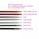 Hiilikuidusta lyhyeet 15cm sukkapuikot KnitPro Karbonz