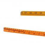Nurklekaal, Ruler with cm and inch scale