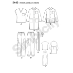 Naiste ja meeste pluss-suurustele riietus, Simplicity Pattern #5443