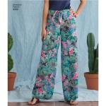 Tüdrukute ühes tükis püksid lehviga ees, suurused: A (S - L / XS - XL), Simplicity Pattern # 8390
