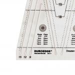 Šabloon-joonlaud, 22,5° kasutamiseks ø16 lõikuriga, 21cm × 28cm Duroedge KT-2250