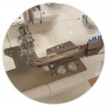 Kantija paigalduskomplekt Juki Bernina Pfaff Husqvarna Singer jt kattemasinatele ja kolmekskeerav kantija 28 mm -> 10 mm #620143096 Bias binder Juki on the cover stitch machine