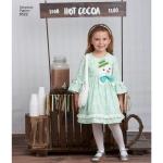 Lapsekleidid ja kotikesed Ruby Jean`ilt, suurused: A (3-4-5-6-7-8), Simplicity Pattern # 8522