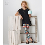 Laste ja tüdrukute trikoo tuunikas ja retuusid, Simplicity Pattern #8105