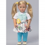 Misses`/Girls`/46cm (18`) Dolls` Matching Full Aprons, Kwik Sew K0223
