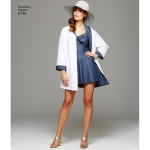 Naiste vintage supluskleit ja rannamantel, Simplicity Pattern #8139