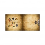 Mereröövel kiisu, veniv puuvillasegu kangas, 150x75cm, Stenzo textiles, 11840
