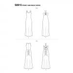 Naiste trikoo maksi kleidid by Mimi G Style, Simplicity Pattern #S8915
