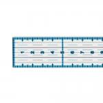 Sini-musta prindiga läbipaistev joonlaud, Clear View Ruler 2cm x 30cm, Le Summit 34303